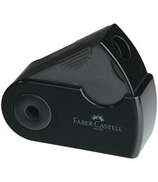 """Точилка пластиковая Faber-Castell """"Sleeve Mini"""", 1 отверстие, контейнер, черная"""