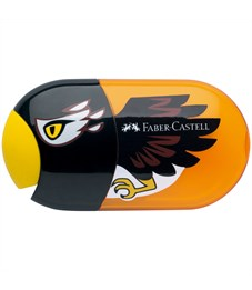 """Точилка пластиковая с ластиком Faber-Castell """"Eagle"""", 2 отверстия, контейнер"""