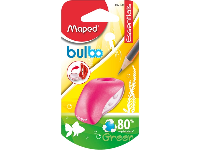 Точилка Maped Bulbo с контейнером, зеленая