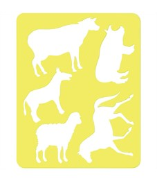 """Трафарет-раскраска контурный, Стамм """"Домашние животные"""", пакет, европодвес"""