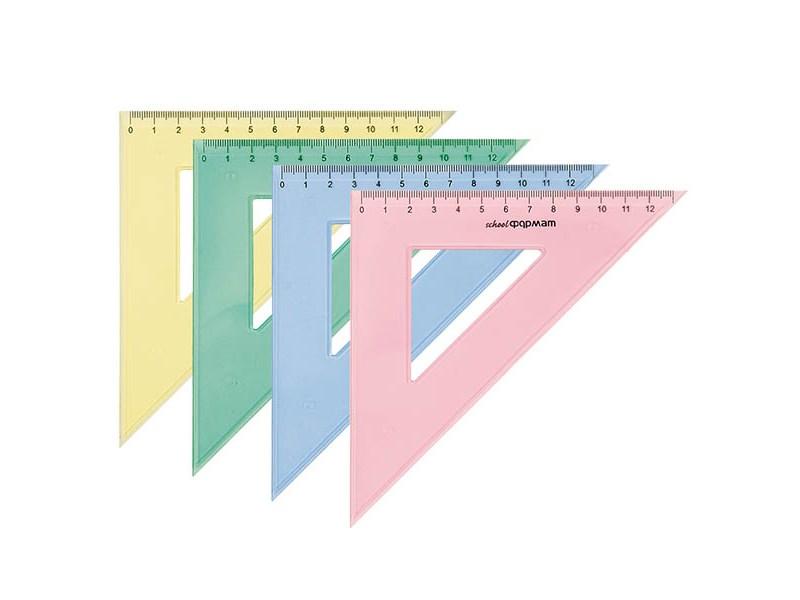 Треугольник SchoolФОРМАТ 14 см 45 гр