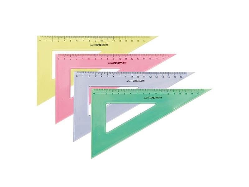 Треугольник SchoolФОРМАТ 20 см/30 гр пластиковый