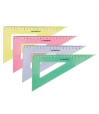 Треугольник SchoolФОРМАТ 20 см/30 гр пластиковый ассорти