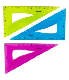 """Треугольник 30°, 18см Berlingo """"Flexy"""", гибкий, ассорти, европодвес"""