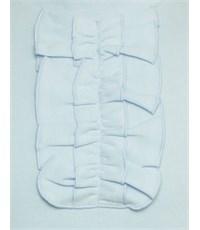 Фото 3. Трикотажная кофточка Снег голубая с низким воротником
