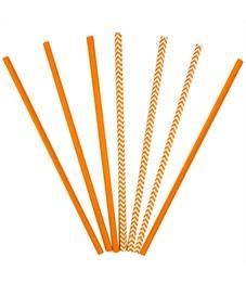"""Трубочки для коктейля ПатиБум """"Orange"""", 12шт., бумажные, европодвес"""