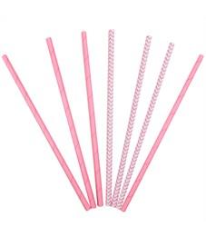 """Трубочки для коктейля ПатиБум """"Pink"""", 12шт., бумажные, европодвес"""