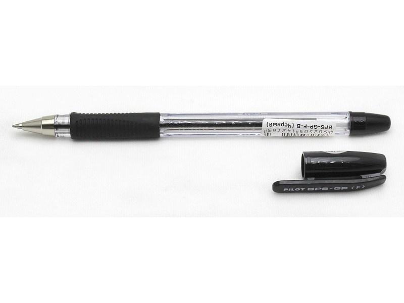 Ручка шариковая Pilot BPS-GP-F-B черная 0,7 мм с резиновым упором