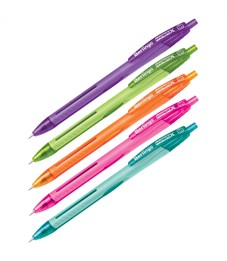 """Ручка шариковая автоматическая Berlingo """"Hyper X"""" синяя, 0,7мм, игольчатый стержень, корпус ассорти"""