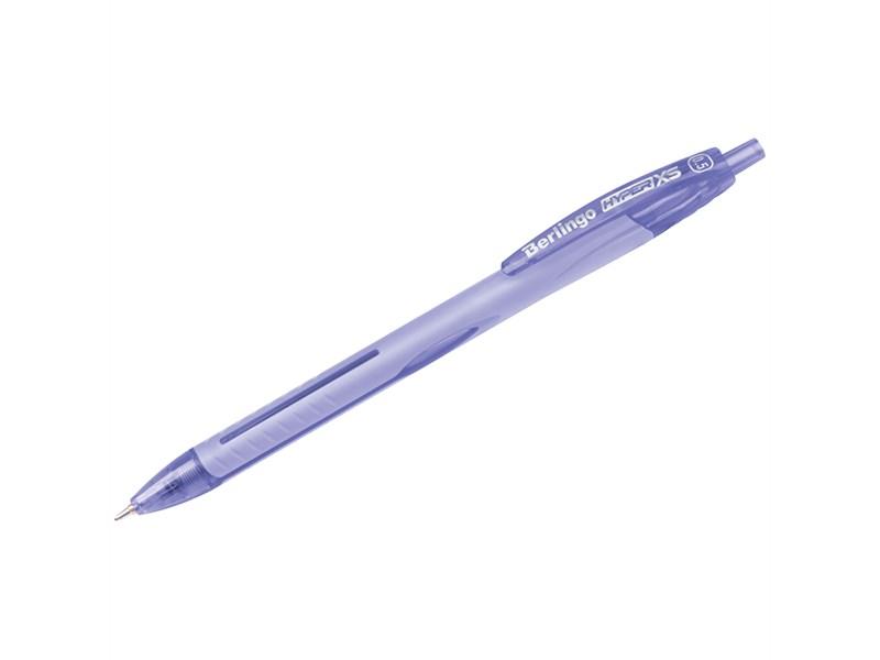 """Ручка шариковая автоматическая Berlingo """"Hyper XS"""", синяя, 0,5мм"""