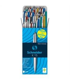 """Фото 2. Ручка шариковая автоматическая Schneider """"K15"""" синяя, корпус ассорти, 1,0мм, ш/к"""