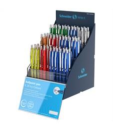 """Ручка шариковая автоматическая Schneider """"K20 Icy Colours"""" синяя, 1,0мм, корпус ассорти, дисплей"""