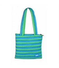 Сумка молодежная Zipit Premium Tote Beach Bag голубой-салатовый