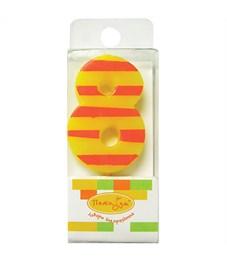 """Свеча для торта с держателем ПатиБум """"Цифра-мини 8"""", 5см"""