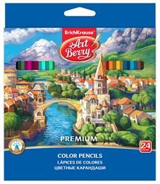 Цветные карандаши шестигранные ArtBerry Premium 24 цветов Замок
