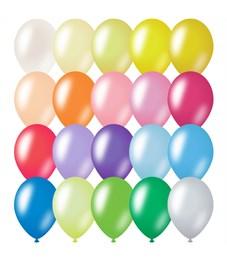 Воздушные шары, 100шт., М12/30см, ArtSpace, металлик, 20 цветов ассорти