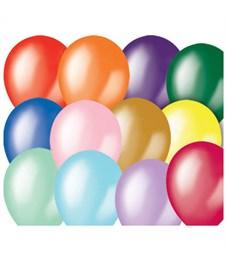 Воздушные шары, 100шт., М12/30см, Поиск, ассорти, металл
