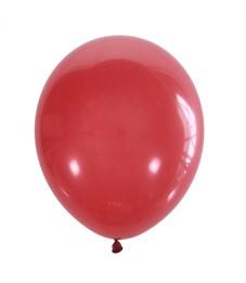 Воздушные шары, 100шт., М12/30см, Поиск, красный, пастель