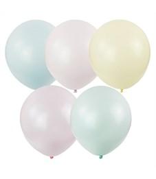 """Воздушные шары, 100шт., М12/30см, Поиск """"Macaroons"""" ассорти, пастель"""