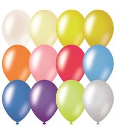 Воздушные шары, 100шт., М9/23см, ArtSpace, металлик, 12 цветов ассорти