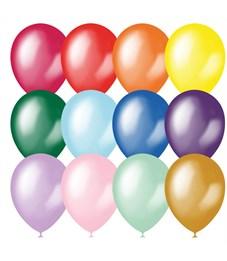 Воздушные шары, 100шт., М9/23см, Поиск, ассорти, металл