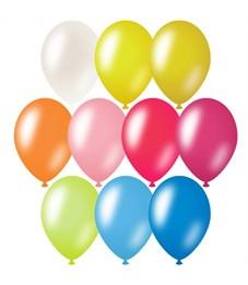 Воздушные шары,  10шт., М10/25см, ArtSpace, металлик, 10 цветов ассорти