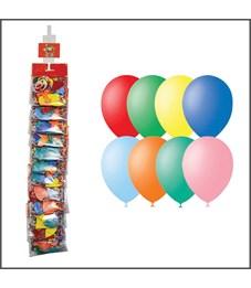 Воздушные шары,  10шт., М11/28см, Поиск, пастель, ассорти, европодвес, стриплента