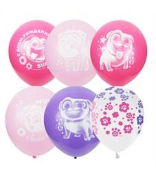 """Воздушные шары,  25шт., M12/30см, Поиск """"Дисней Мопсы"""", для девочек"""