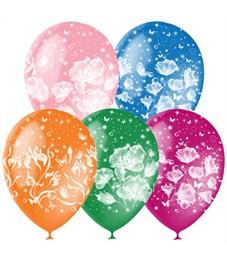 """Воздушные шары,  25шт., M12/30см, Поиск """"Фантазия"""", пастель+декор, растровый рисунок"""