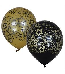 """Воздушные шары,  25шт, М12/30см, Поиск """"Голливуд Black&Gold"""""""