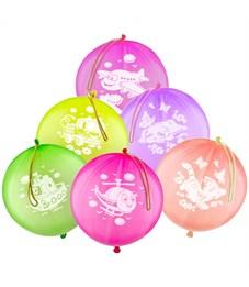 """Воздушные шары,  25шт., М14/36см, Поиск """"Панч бол"""", флуоресцентные"""