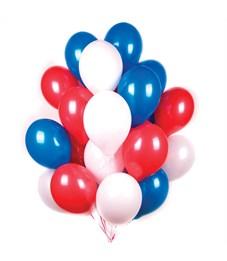 """Воздушные шары,  30шт., М12/30см, Поиск """"Триколор"""", пастель"""