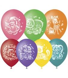 """Воздушные шары,  50шт., M10/25см, Поиск """"С Днем Варенья"""", пастель+декор"""
