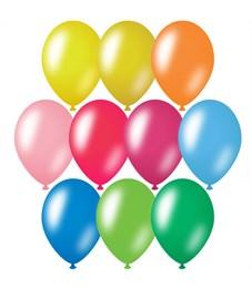 Воздушные шары,  50шт., М12/30см, ArtSpace, металлик, 10 цветов ассорти
