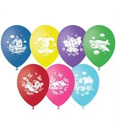 """Воздушные шары,  50шт., М12/30см, Поиск """"Детская тематика"""", пастель, шелк"""