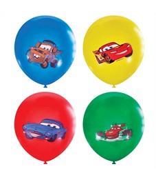 """Воздушные шары,   5шт., М12/30см, Поиск """"Дисней Тачки"""", пастель+декоратор, Х-96, европодвес"""