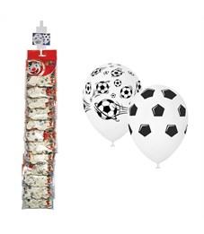 """Воздушные шары,   5шт., М12/30см, Поиск """"Футбол"""", пастель, ассорти, европодвес, стриплента"""