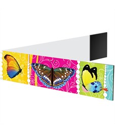 "Фото 2. Закладка - магнит для книг, 25*200мм, ArtSpace ""Бабочки"", блестки"