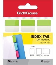 Закладки архивные с клеевым краем ErichKrause, 22х25 мм, 54 листа, 6 цветов
