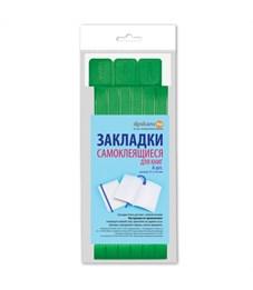 Закладки для книг самоклящиеся, 12*376мм, ДПС, 06шт., ярко-зеленый