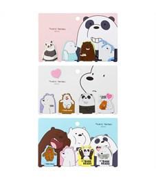 """Закладки магнитные для книг 4шт., """"Мишки и Панда"""""""