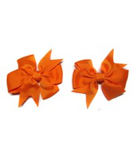Заколка для волос Бантик оранжевый - 2 штуки