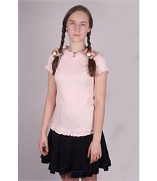 Фото 2. Джемпер для девочки Снег розовый, короткие рукава-фонарики